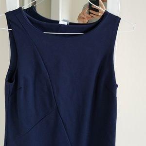 Three Dots Dresses - Navy Sleeveless Sheath Dress with stretch, never w